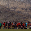 The Ireland players trained at Queenstown Events Centre, against the stunning backdrop of the aptly-named Remarkables mountain range