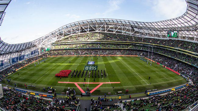 A view of the Aviva Stadium on matchday
