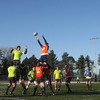 The Munster forwards finetune their lineout calls ahead of Sunday's meeting of the Magners League heavyweights in Limerick