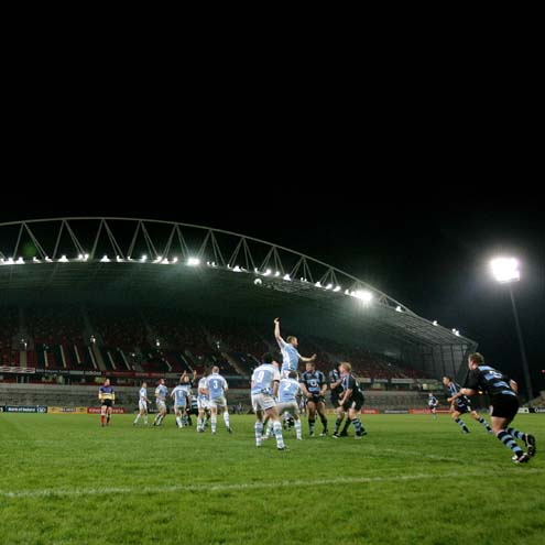 A view of Shannon's clash with Garryowen at Thomond Park