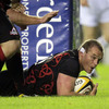 Edinburgh scored the only try of the first half, with prop Geoff Cross rumbling over under the posts