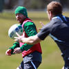 Geordan Murphy flips the ball back to Sean Cronin, who tweeted about having a massage with Willie 'Magic Hands' Bennett after the pitch and weights sessions
