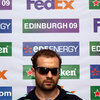 Ireland full-back and Leicester's stand-in captain Geordan Murphy wore sunglasses at the pre-match press conference, protecting an eye injury he sustained against London Irish last weekend