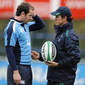 Geordan Murphy with defence coach Les Kiss