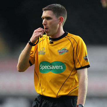 George Clancy on Magners League duty