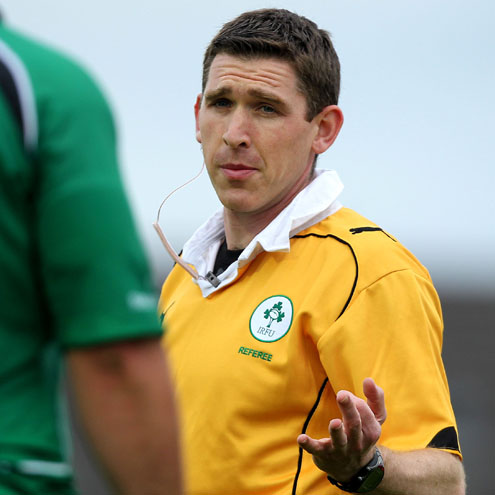 IRFU referee George Clancy