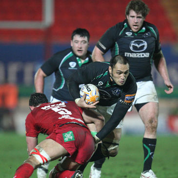 Back rower George Naoupu in action for Connacht