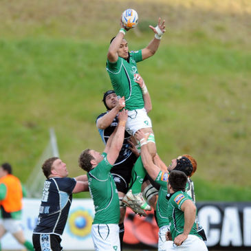 George Naoupu wins a lineout for Connacht in Glasgow