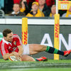 A terrific counter attack from Leigh Halfpenny set up George North for another Lions try just seven minutes later