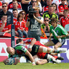 Munster fell behind to a ninth minute try from lock George Robson as Harlequins got off to a flying start