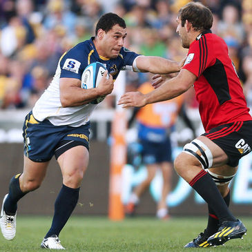 George Smith in action for the Brumbies