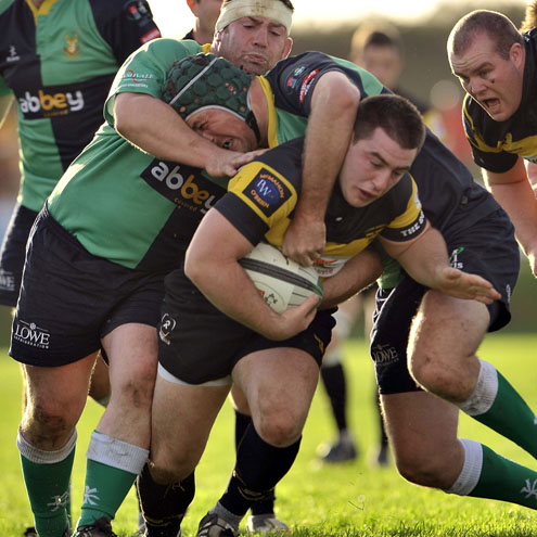 Ger Slattery scored a late try for Young Munster