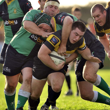 Young Munster captain Ger Slattery takes the ball on