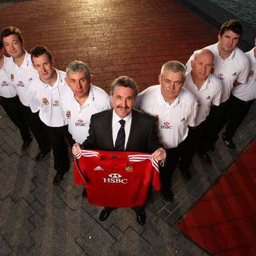 Gerald Davies and the rest of the 2009 Lions management team
