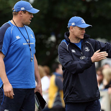 Leinster forwards coach Jono Gibbes and head coach Joe Schmidt