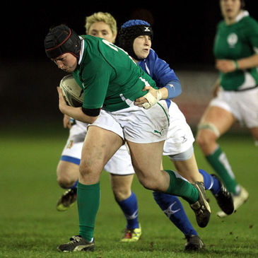 Gillian Bourke in action for the Ireland Women's side