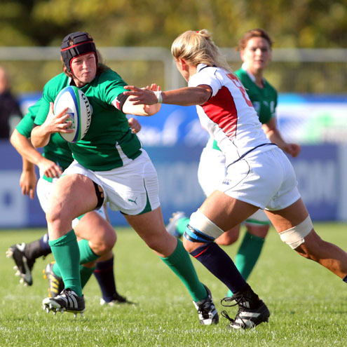 Gillian Bourke in action during the Women's Rugby World Cup