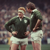 Moss is pictured talking to his Munster and Ireland team-mate Gerry 'Ginger' McLoughlin