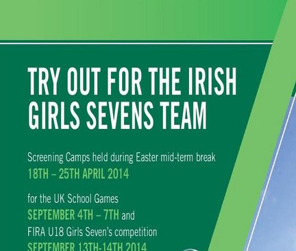 Try Out For The Ireland Girls Sevens Team