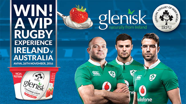 Win A VIP Match Experience To Ireland v Australia With Glenisk