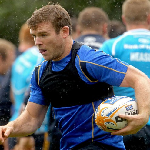 Gordon D'Arcy training with the Leinster squad last week