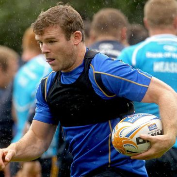 Gordon D'Arcy training with the Leinster squad