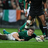 A close range thrust from Gordon D'Arcy got him over the try-line for Ireland's fourth converted try