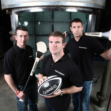 Gordon D'Arcy with Donal Og Cusack and Dan Shanahan