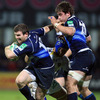 Experienced centre Gordon D'Arcy takes the ball on during his 72nd Heineken Cup appearance for Leinster