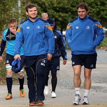 Gordon D'Arcy and Eoin Reddan arrive for training at UCD