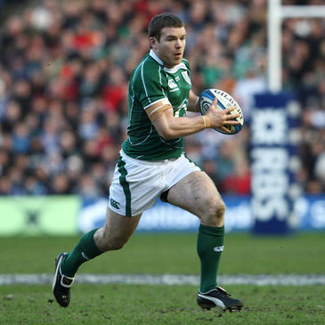 Gordon D'Arcy in action for Ireland
