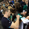 The players took time out after finishing training at the Aviva Stadium to greet fans and sign autographs