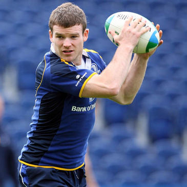 Gordon D'Arcy is pictured training with the Leinster squad