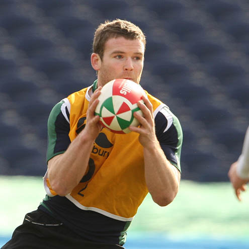 Gordon D'Arcy training with the Ireland squad