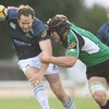 Connacht lock Andrew Farley gets across to stop Glasgow's Graeme Morrison in his tracks