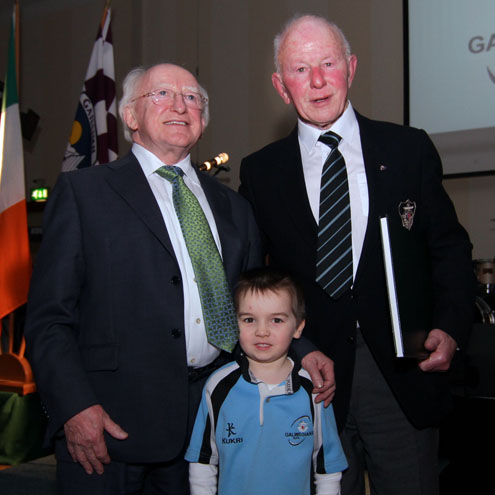 President Michael D Higgins with Colm Shaughnessy and Brendan Guerin