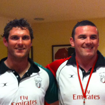 UAE players Greg Thompson and Garrett Noonan
