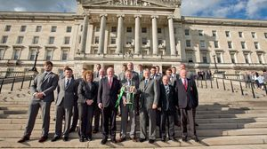 RBS 6 Nations Champions' Reception At Stormont, Belfast, Wednesday, May 21, 2014