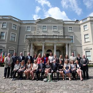 Reception For Ireland's Grand Slam Champions At Farmleigh House, White's Road, Dublin, Friday, May 17, 2013