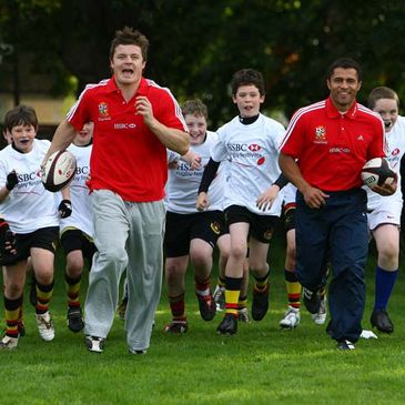 Brian O'Driscoll and Jason Robinson at the launch