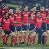 Haka leader Rua Tipoki and leading All Black try scorer Doug Howlett are backed up by their Munster colleagues