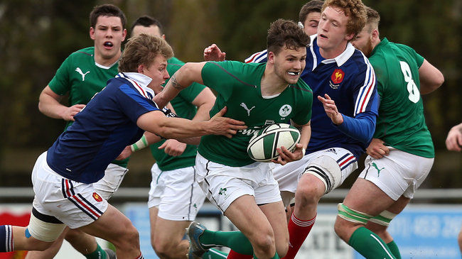 Harrison Brewer in action for the Ireland Under-19s