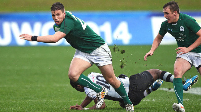 Harrison Brewer in action for the Ireland U-20s