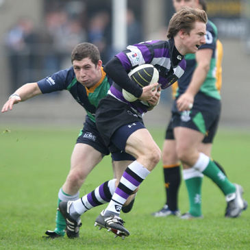 Harry Moore in action for Terenure College