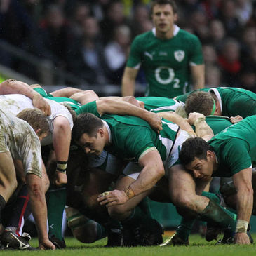 Scrum action from last year's Ireland v England clash