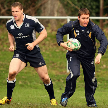 Jamie Heaslip and Eoin Reddan training at Donnybrook
