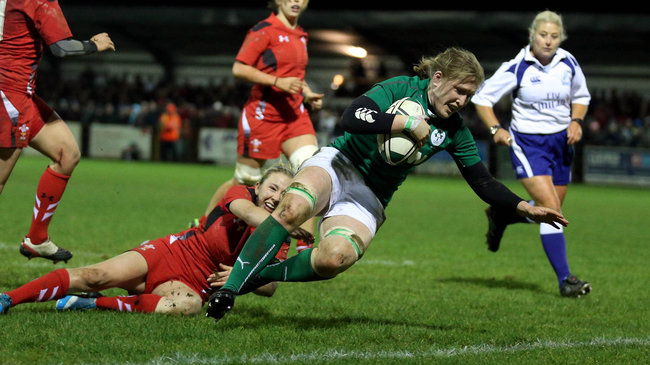 Ireland Women 14 Wales Women 6, Ashbourne RFC, Friday, February 7, 2014