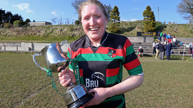 Ireland number 8 Heather O'Brien captained Highfield to cup glory last season
