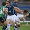 Glasgow's Hefin O'Hare makes a burst through the Connacht midfield