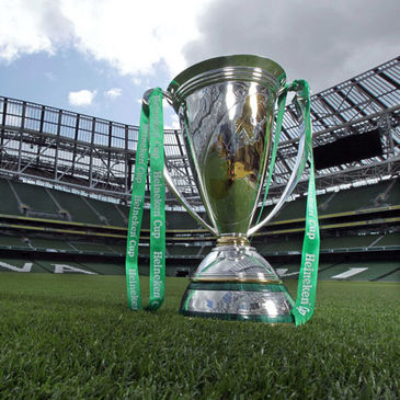 The Heineken Cup trophy at the Aviva Stadium